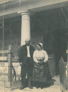 Foktői házaspár hétköznapi viseletben