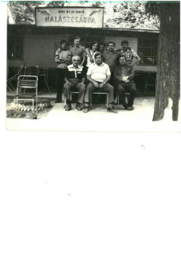 Aratás végző a Halászcsárdában 1978-ban