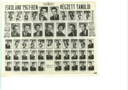 Iskolai tabló-1961